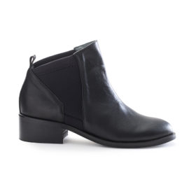 black chelsea leather ankle boots