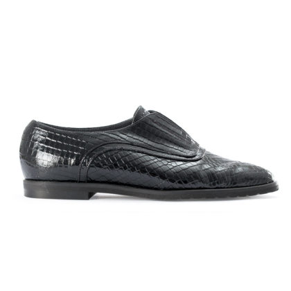 PLATO F | Leather Stretch Bluchers