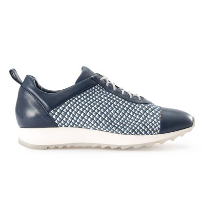 ULISSE | Blue Leather Platform Sneakers