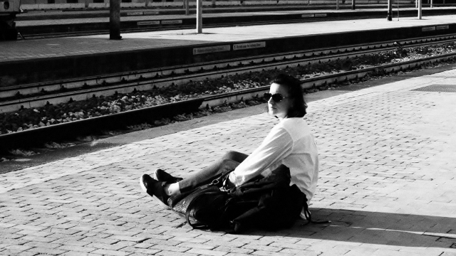 Ravena, waiting for the train