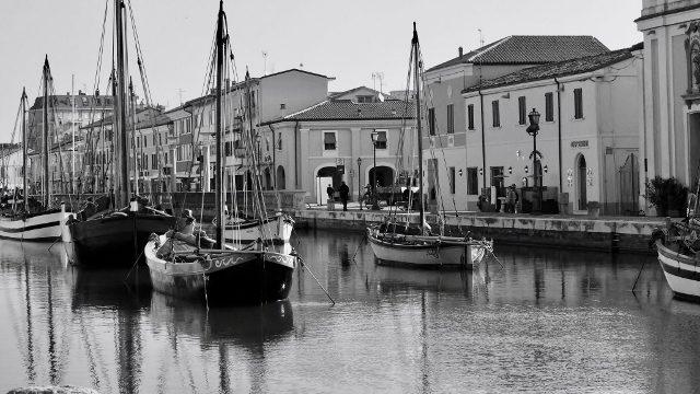 The canal of Cesenatico
