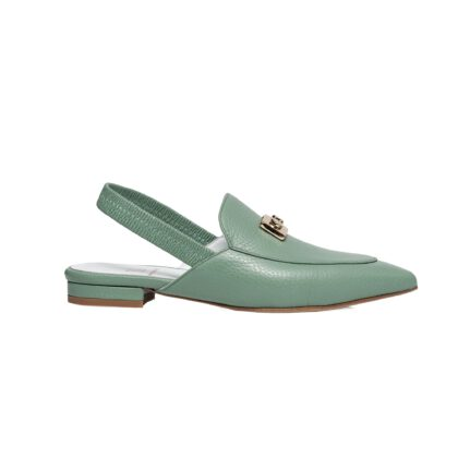 Flat slingback leather loafers